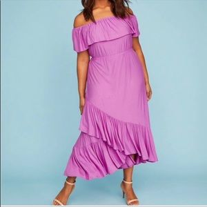 nwt lane bryant | off the shoulder layered dress